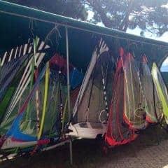 Surfzeil opslag Camping Gardenia