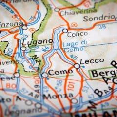 Routekaart Comomeer