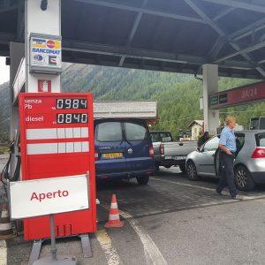 Benzine prijzen Livigno 2015