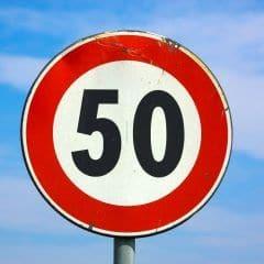 50 km verkeersbord