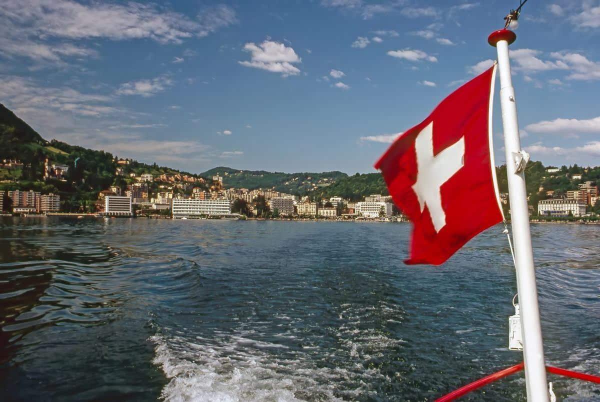 Lugano vlag Zwitserland