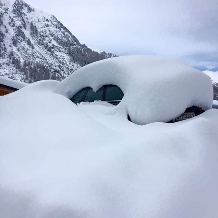 Sneeuwval Livigno 06/03/2016