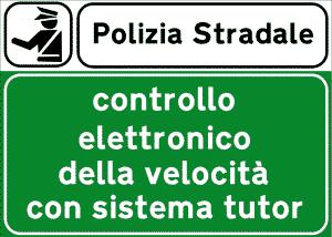 Trajectcontrole Italië verkeersbord