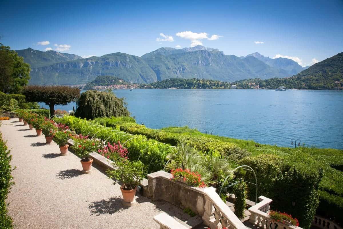 Villa Carlotta met uitzicht op het Comomeer