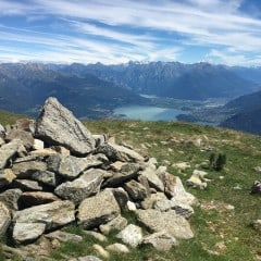Rotsen op de Monte Bregagno