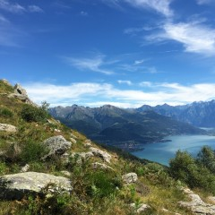 Uitzicht vanaf de Monte Bregagno