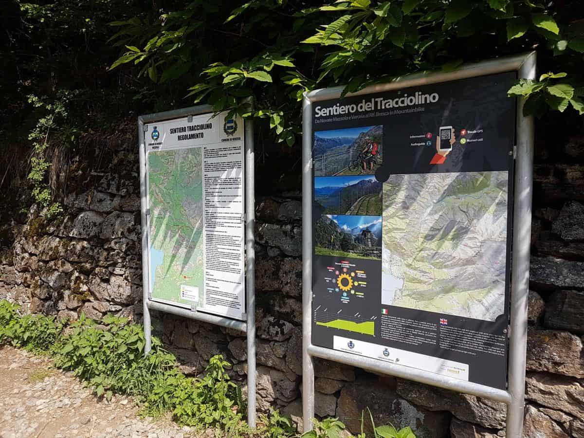 Sentiero del Tracciolino startpunt