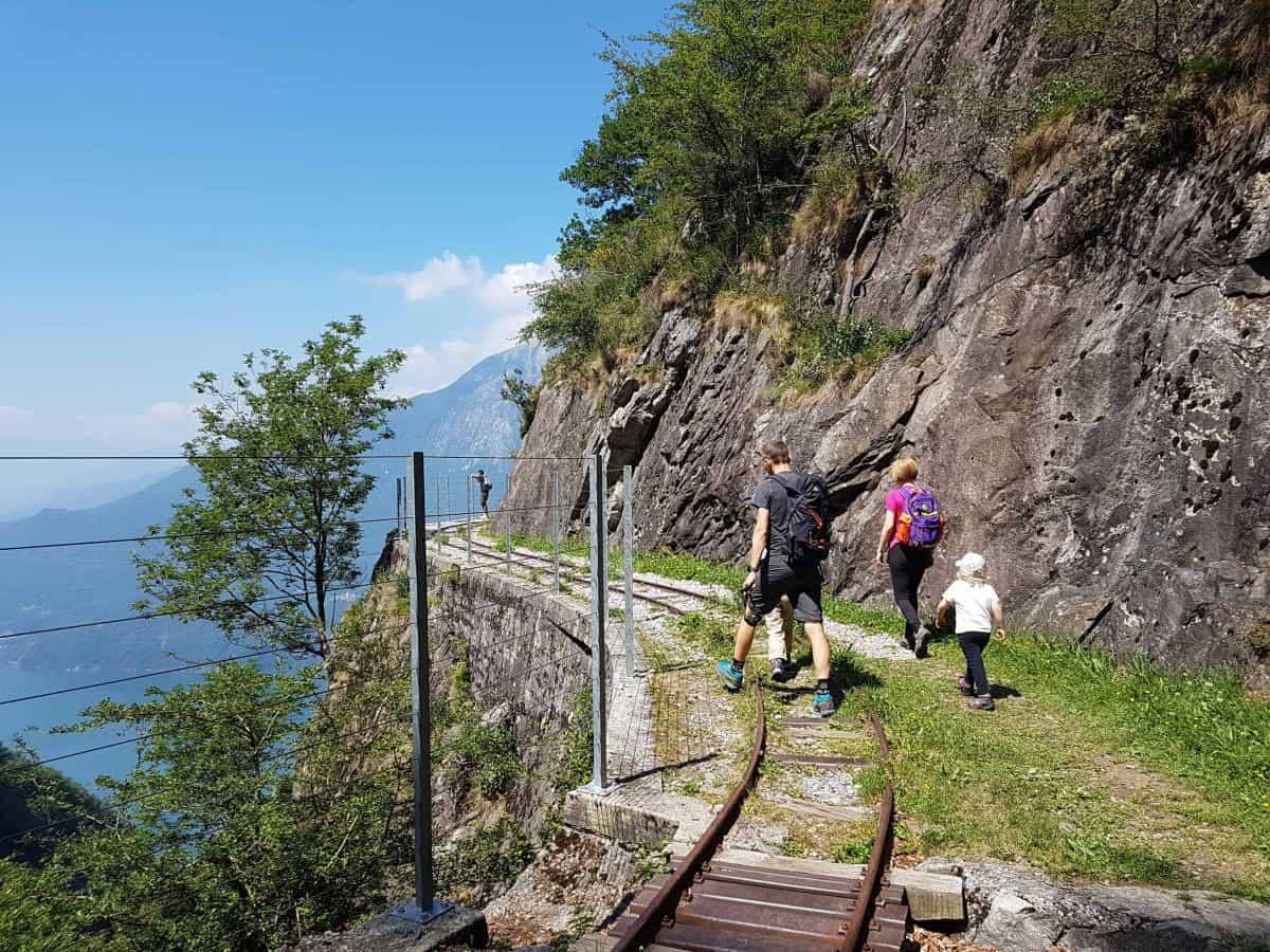 Treinspoort wandeling Tracciolino