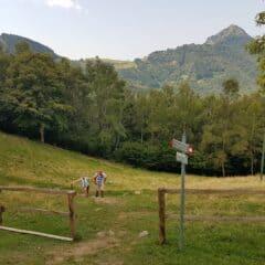 aankomst berghut sentiero delle espressioni
