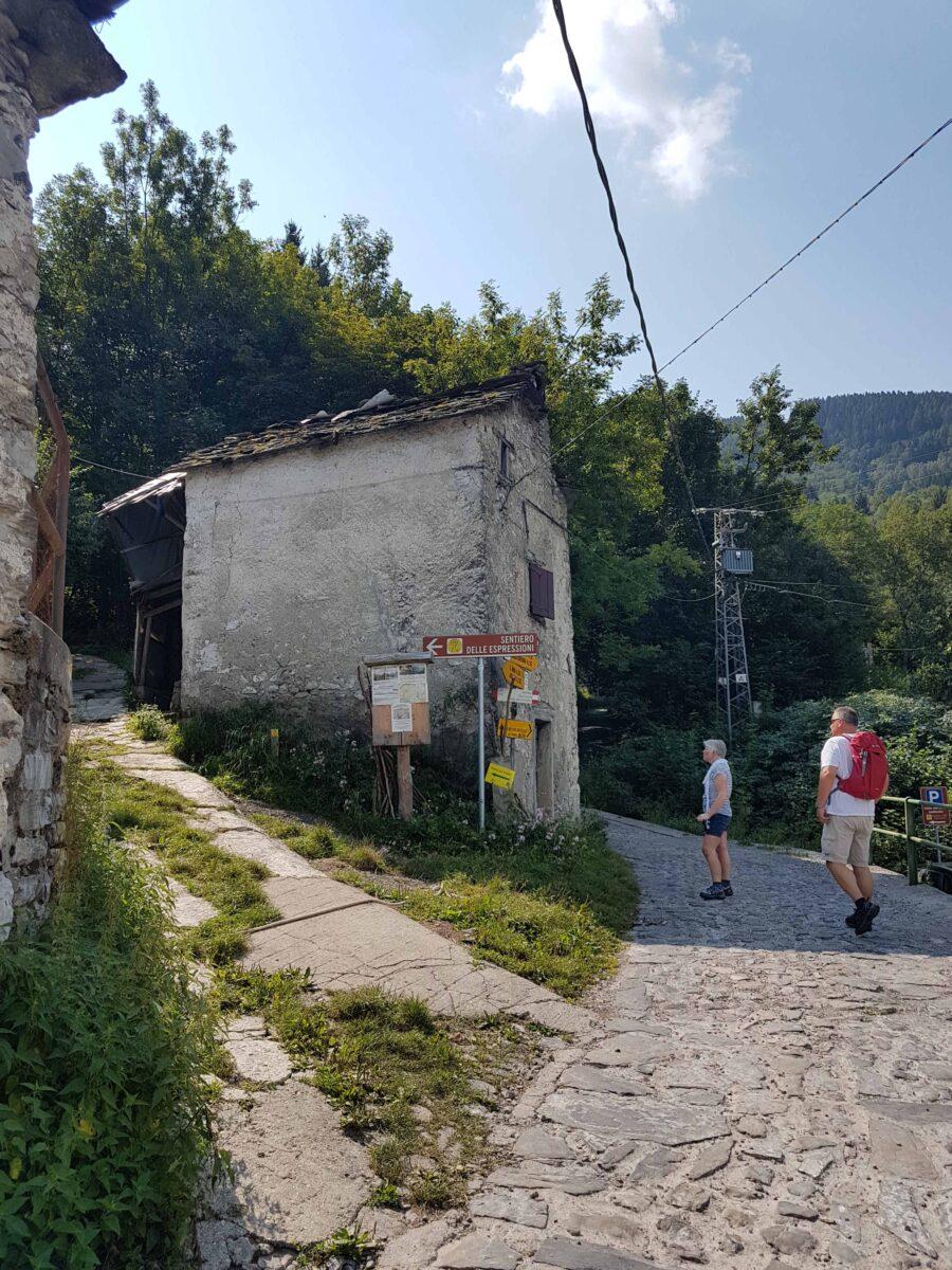 Startpunt Schignano - wandeling Sentiero delle espressioni