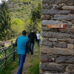 Wandeling naar de dam na Ponte nel Cielo